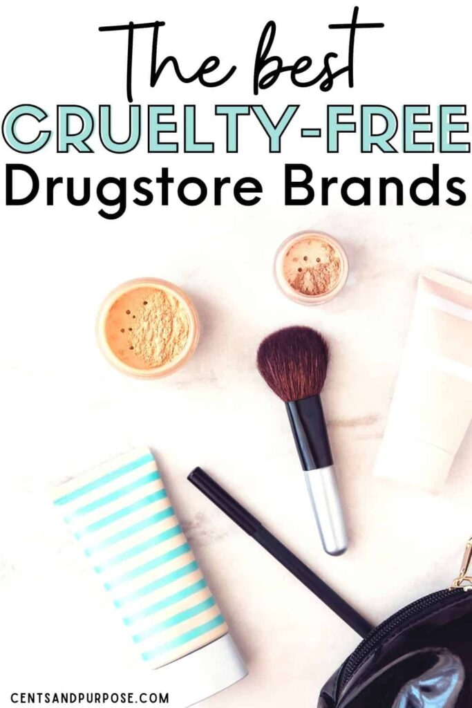 Beauty products laying on a table with text that reads: The best cruelty-free drugstore brands