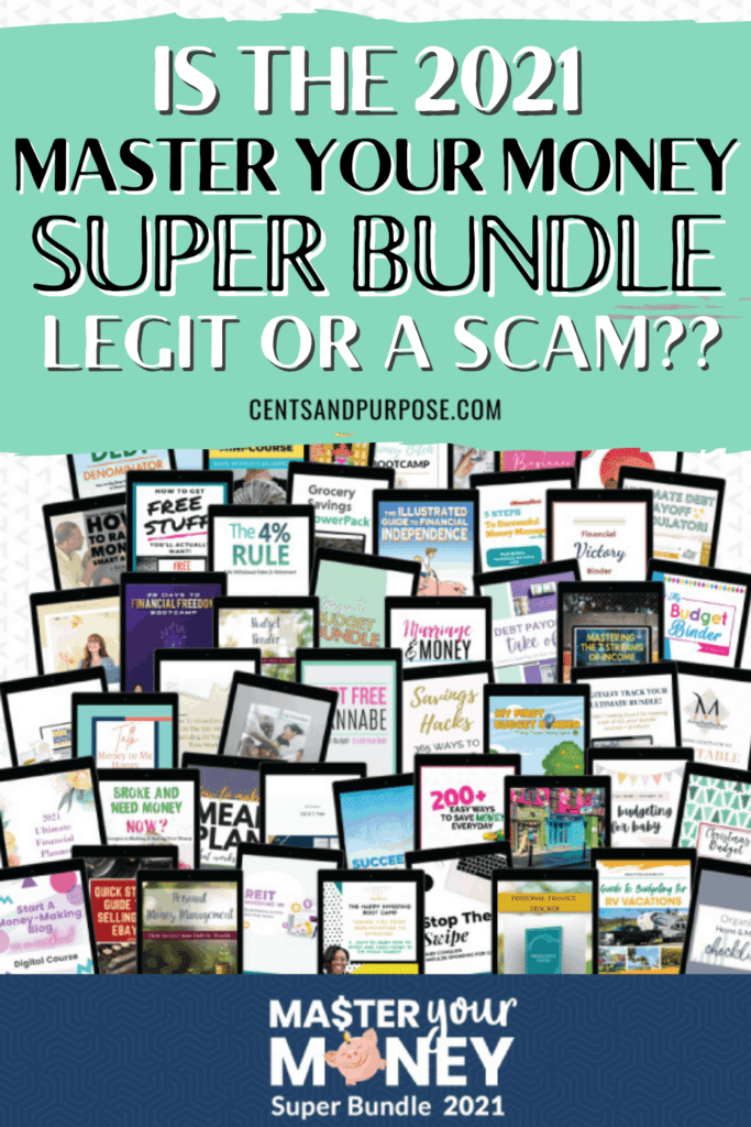 Images of the 51 digital resources in the Master Your Money Super Bundle 2021